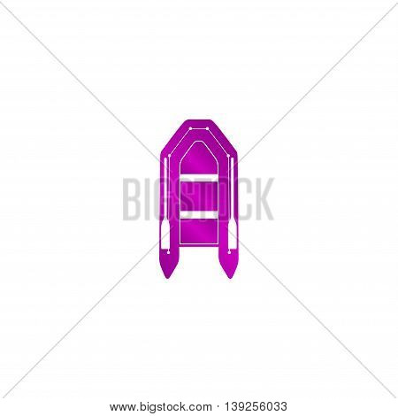 Inflatable Boat Flat Icon