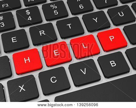 Help Keys On Keyboard Of Laptop Computer.