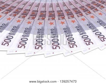 Money Fan. Five Hundred Euros.