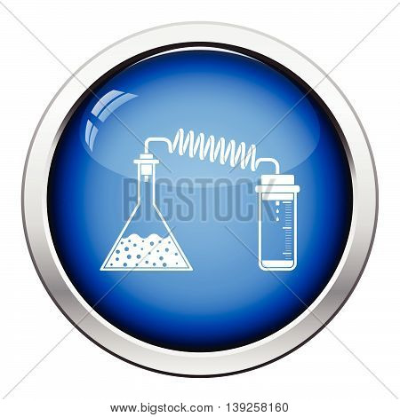 Icon Of Chemistry Reaction With Two Flask