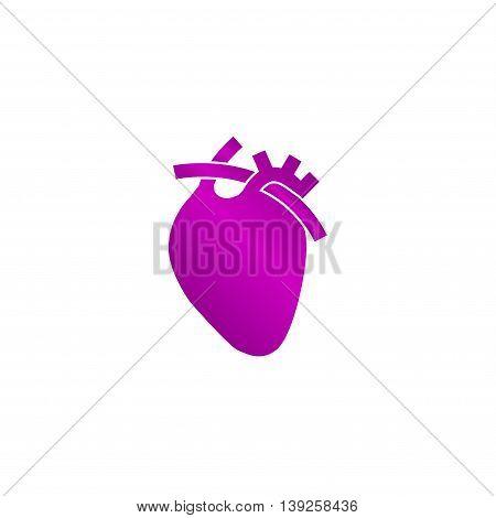Vector Flat Heart Icon. Eps 10.