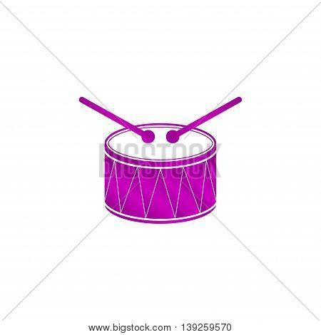Drum Icon. Flat