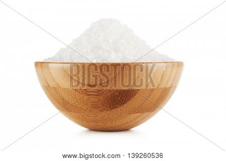 Salt in a bamboo bowl