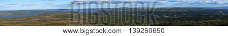 Panoramic View From The Swedish Mountain Ansaett