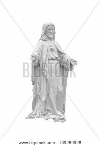 Jesus Christ Sculpture At Outdoors In Cuenca Ecuador