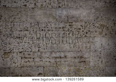 Old gray stone block texture empty space