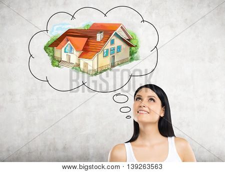 Woman Thinking About Real Estate