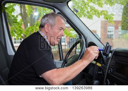Independent Retired Senior Working As Courier