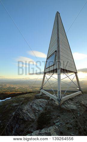 Peak Of The Swedish Mountain Ansaett With Mountain Radio Station