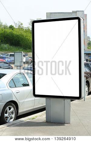 Advertise citylight on street