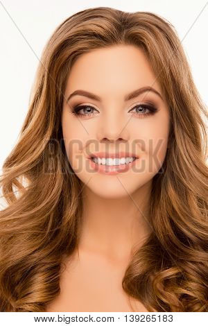 Portrait Of Pretty Young Woman With Beaming Smile