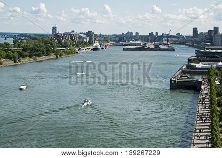 Partial view of the Port of Montreal Quebec Canada