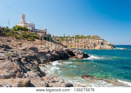 The rocky Coastline of Portopalo in southern Sicily
