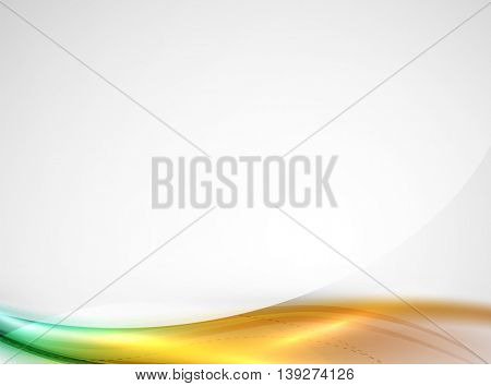Bright color wave with blur and glowing effects. Abstract background
