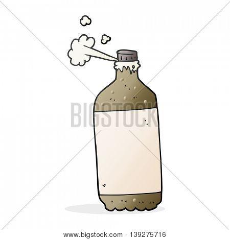 freehand drawn cartoon fizzing cola