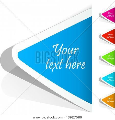 Sticker. Vector templates for design.