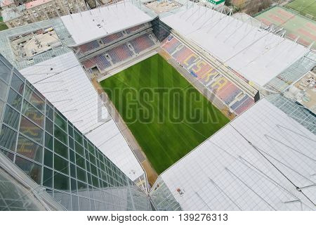 MOSCOW - APR 21, 2016: New Stadium CSKA Moscow will be built at end of 2016