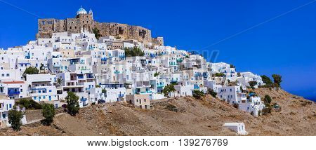 most beautiful Greek islands - Astypalea, Dodecanese view of Chora and Castle