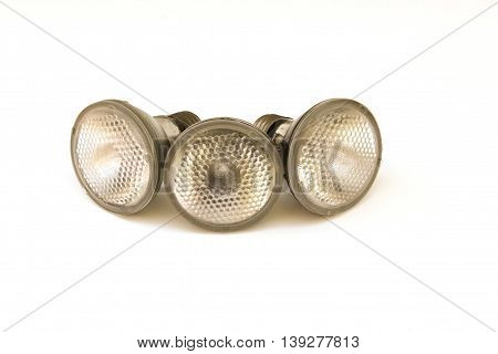 Light bulbs isolated on a white background