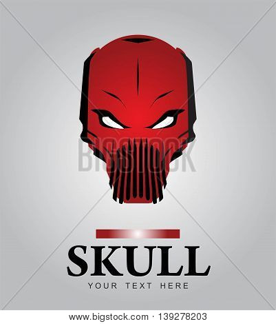 Red skull. Alien. Predator. Artwork. Suitable for team identity insignia emblem illustration for apparel mascot motorcycle community game character game icon etc.