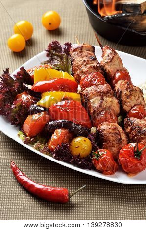 Barbecue popular food in Eastern and Central Europe; the Baltic region in Northern Europe; the Caucasus; Western; Southern and Central Asia.