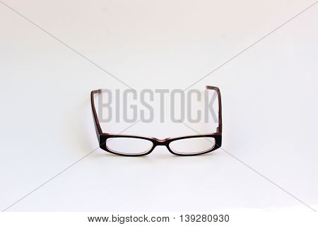 Prescription glasses isolated on a white background