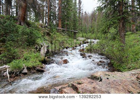 Waterfalls at Kite Lake in Silverton, CO