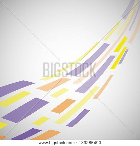 Abstract background template with colorful square distorted elements, stock vector