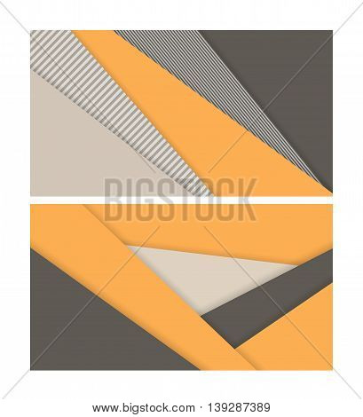 Vector business cards set. Geometrric Elements for design, annual reports, brochures. Eps10
