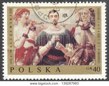 MOSCOW RUSSIA - CIRCA JANUARY 2016: a post stamp printed in POLAND shows a painting