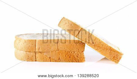 bread grain isolated on white background .