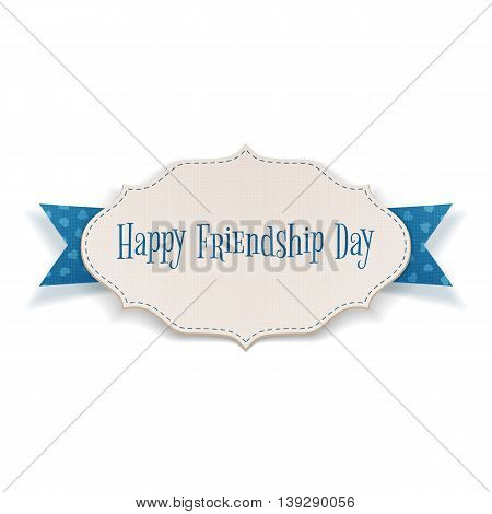 Happy Friendship Day Holiday Tag. Vector Illustration