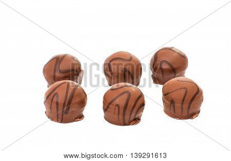 dessert chocolate candy on a white background