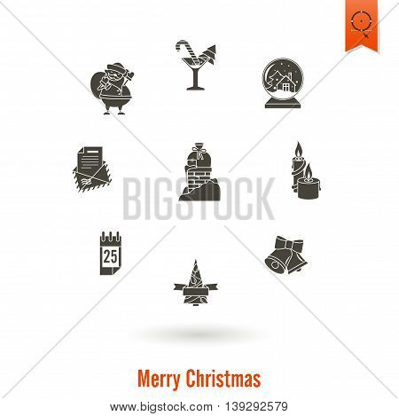 Christmas and Winter Icons Collection. Simple and Minimalistic Style. Vector