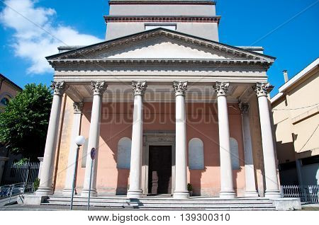 beautiful old church in the town of santarcangelo di Romagna italy