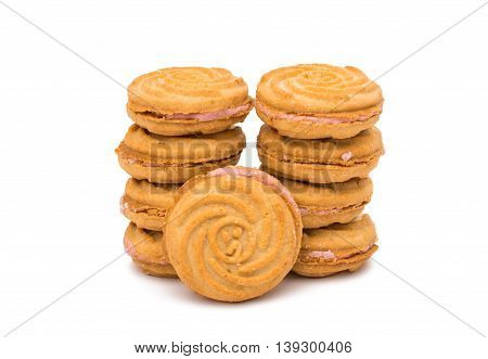cookies biscuit dessert  isolated on white background