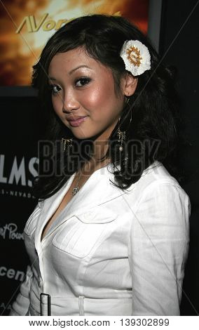 Brenda Song at Christian Audigier Fashion Show featuring new Ed Hardy label held in Hollywood, USA on May 21, 2005.