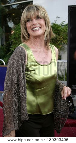 Linda Gray at the Los Angeles premiere of 'Cinderella Man' held at the Gibson Amphitheatre at Universal City in Hollywood, USA on May 23, 2005.