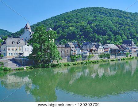 idyllic Village of Dausenau in Westerwald at River Lahn,Rhineland-Palatinate,Germany
