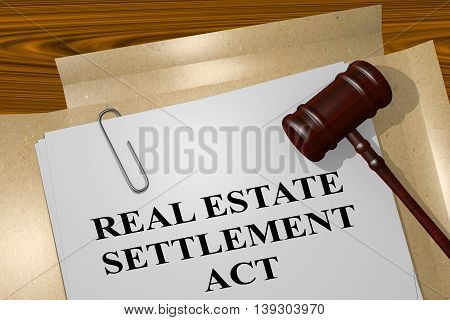 Real Estate Settlement Act Concept