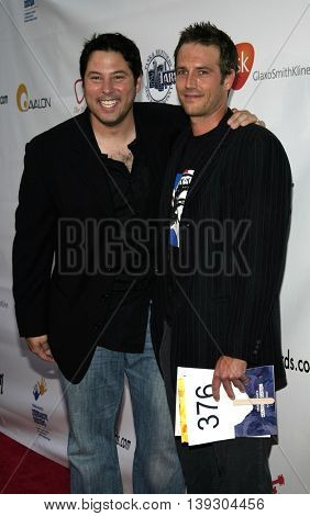 Greg Grunberg and Michael Vartan at the Hollywood's Helping Hands art auction held at the Avalon Theater in Hollywood, USA on June 2, 2005.