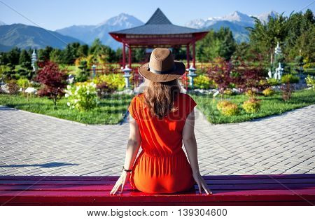 Tourist In Japanese Garden