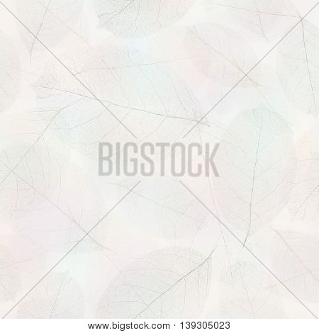 Seamless transparent foliage pattern.