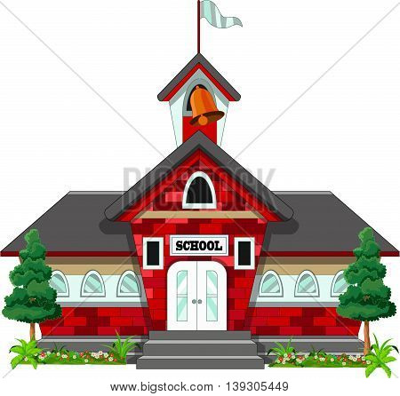 beauty school building cartoon for you design