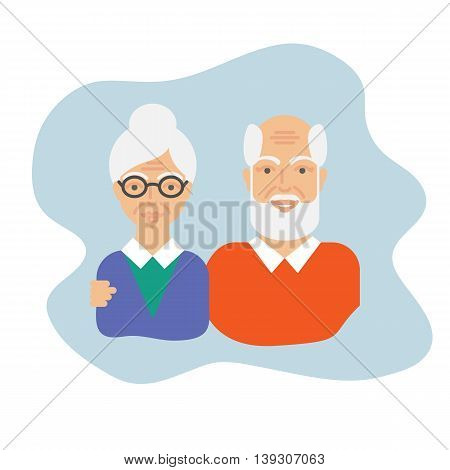 Grandparents vector illustration vector illustration flat style