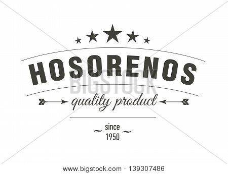 Retro Vintage Insignia or Logotype. Vector illustration.