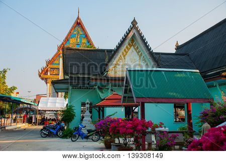 Buddhist Temple. Hatyai. Thailand.