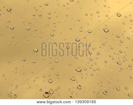 Rain Droplets Sepia