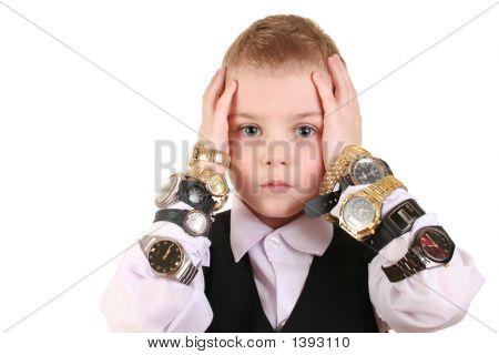 Sad Boy With Clocks