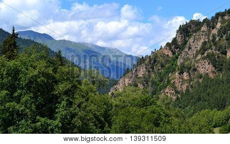 Valley in Karachay-Cherkessia, on the northern slopes of the Greater Caucasus. Photo taken on:  July 27 Saturday, 2013